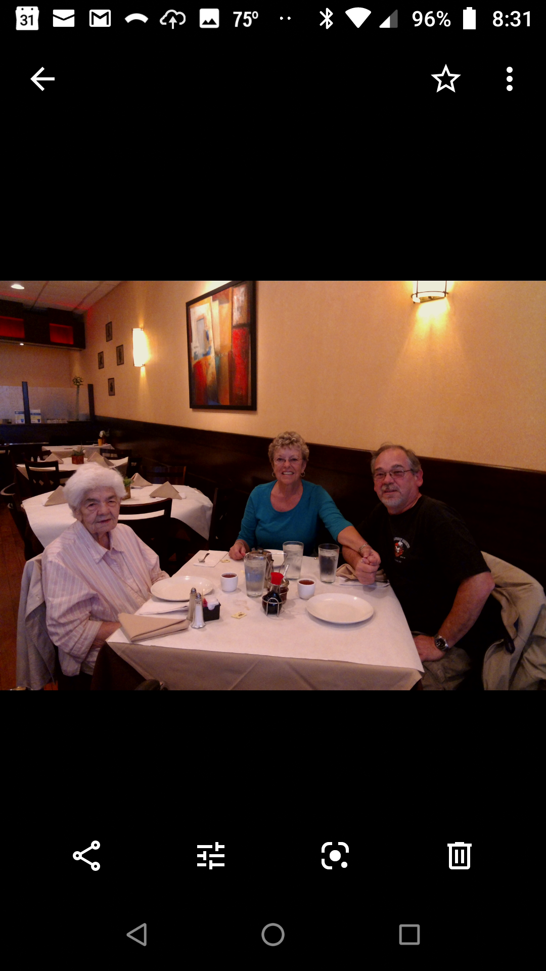 Patrick, Elsie and Mom in Chicago's Chinatown