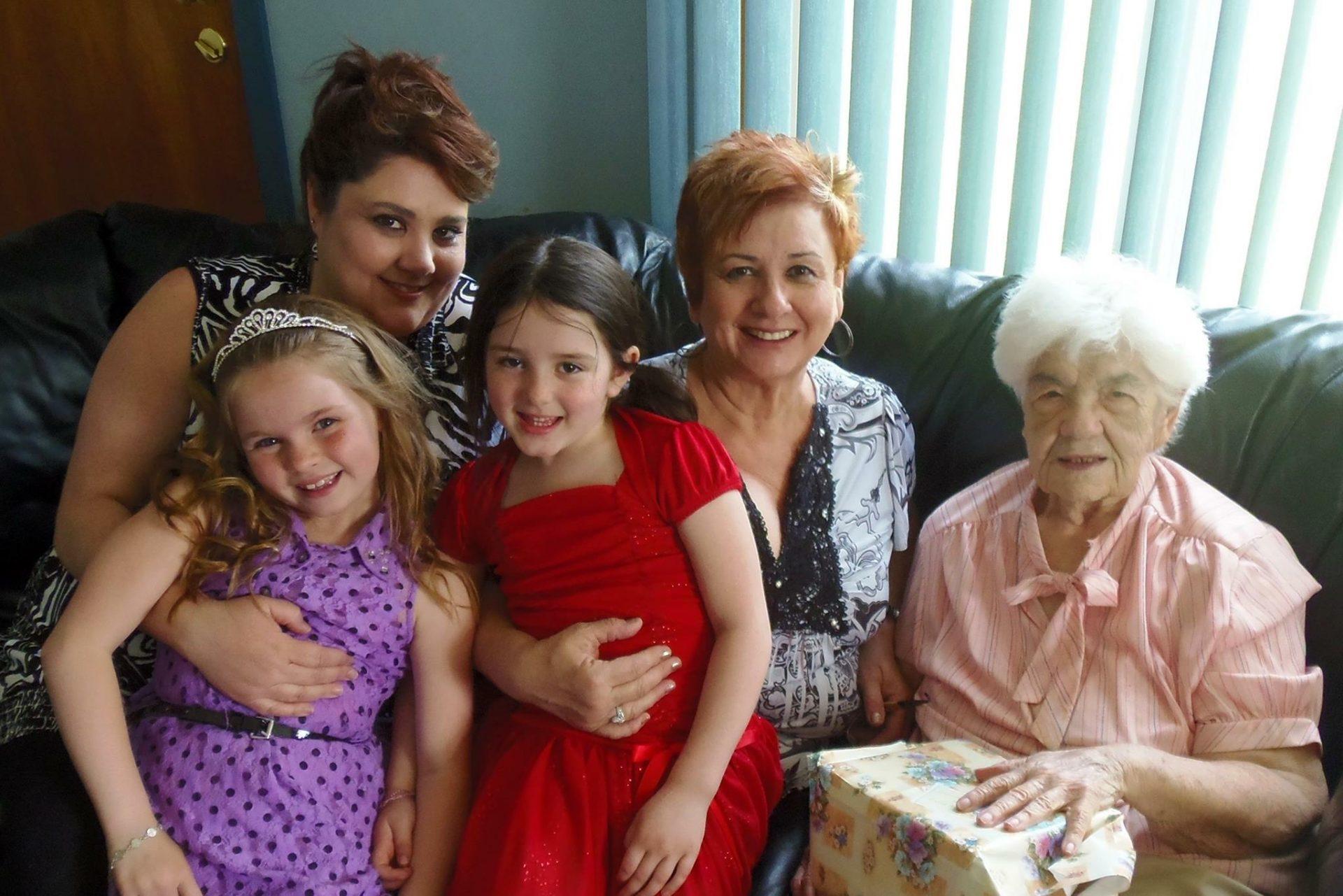 Colleen, Peggy, Grandma, Kelli, & Allie