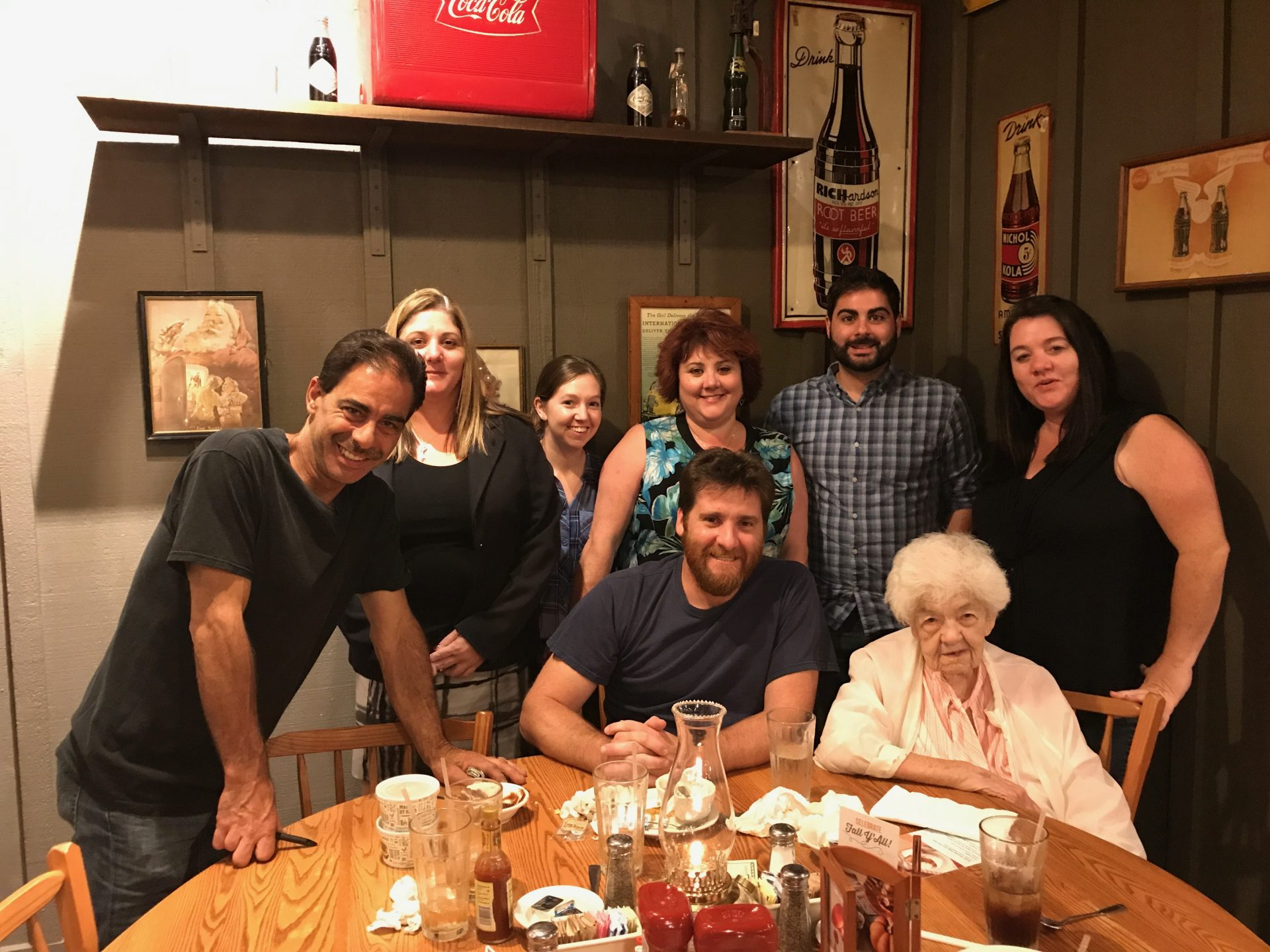 dinner with Grandma before she moved to Florida