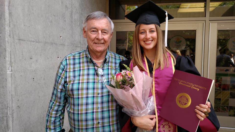 Pop Pop & Chloe, FSU Graduation, May 2018