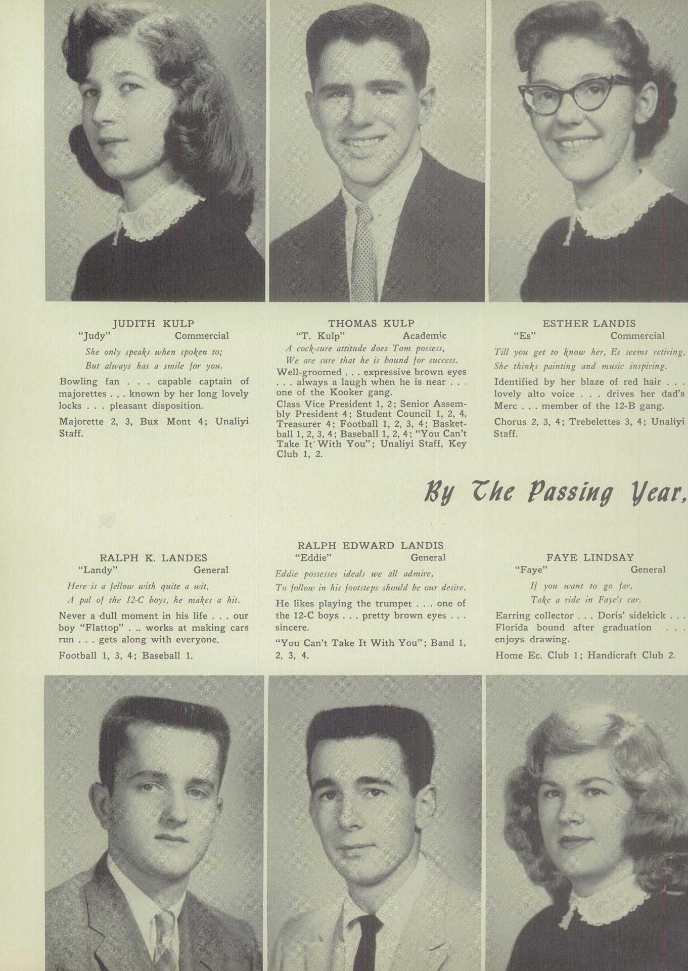 Ralph Edward Landis - Unalyi Souderton High School Yearbook 1957