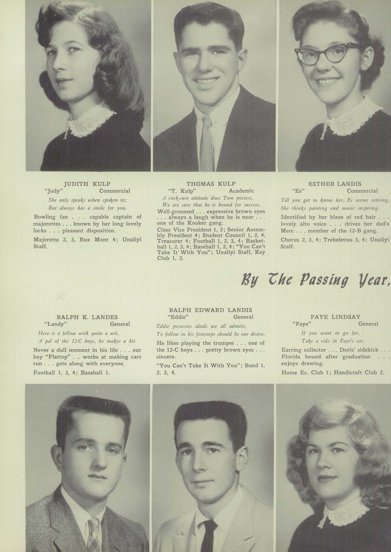 Ralph Edward Landis - Unalyi Souderton High School Yearbook 1957