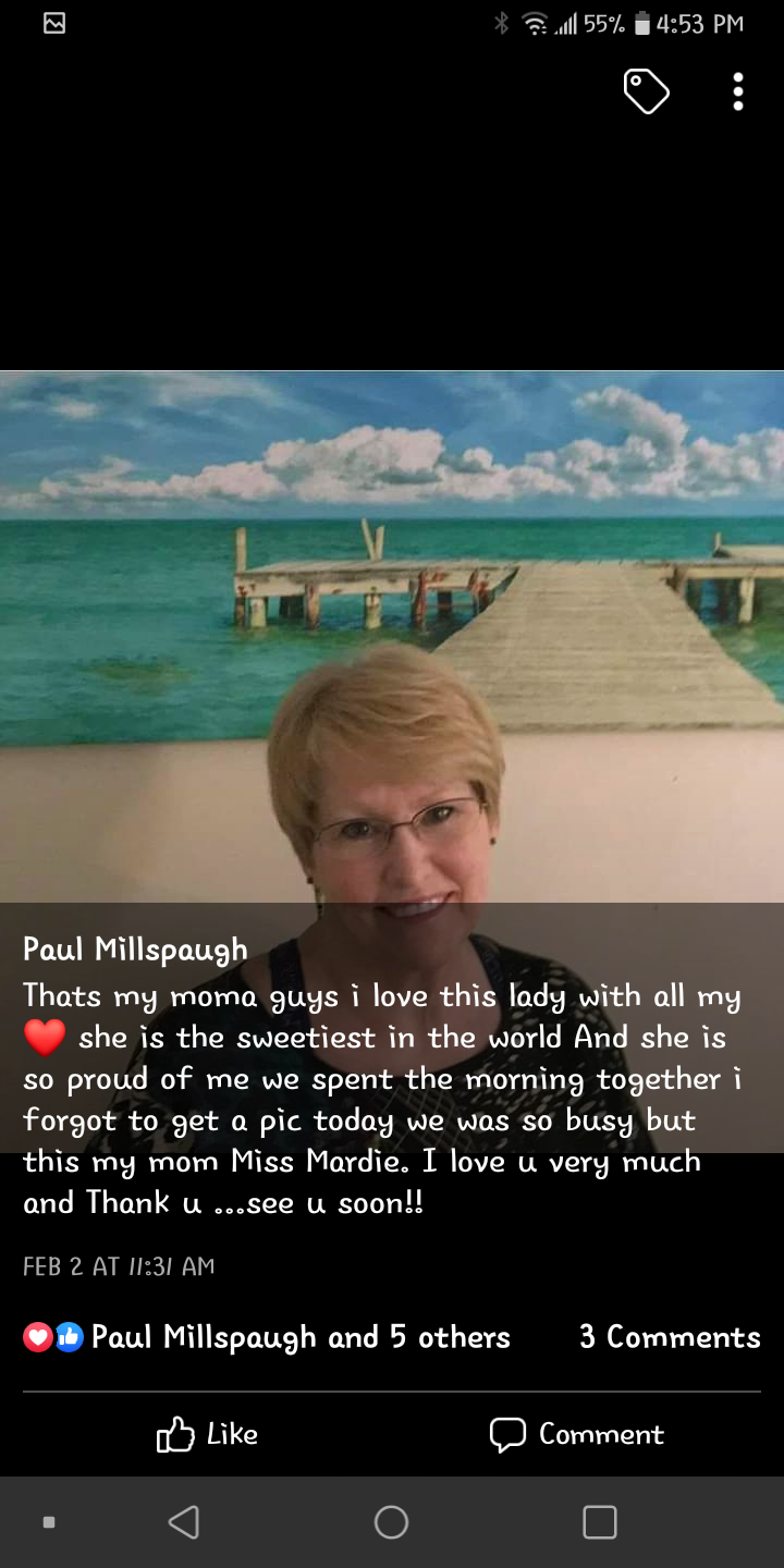 He posted this picture on Facebook to share with everyone the love he had for his mom .