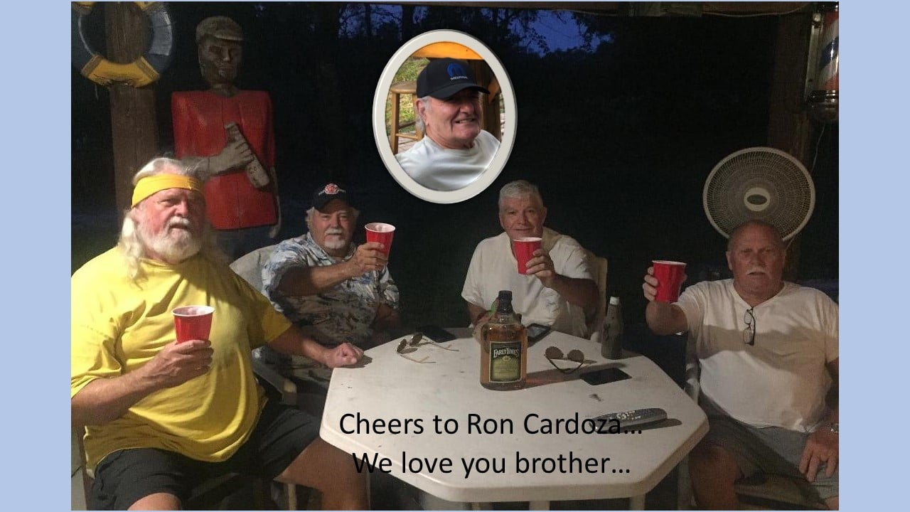 Here's to you Ron...