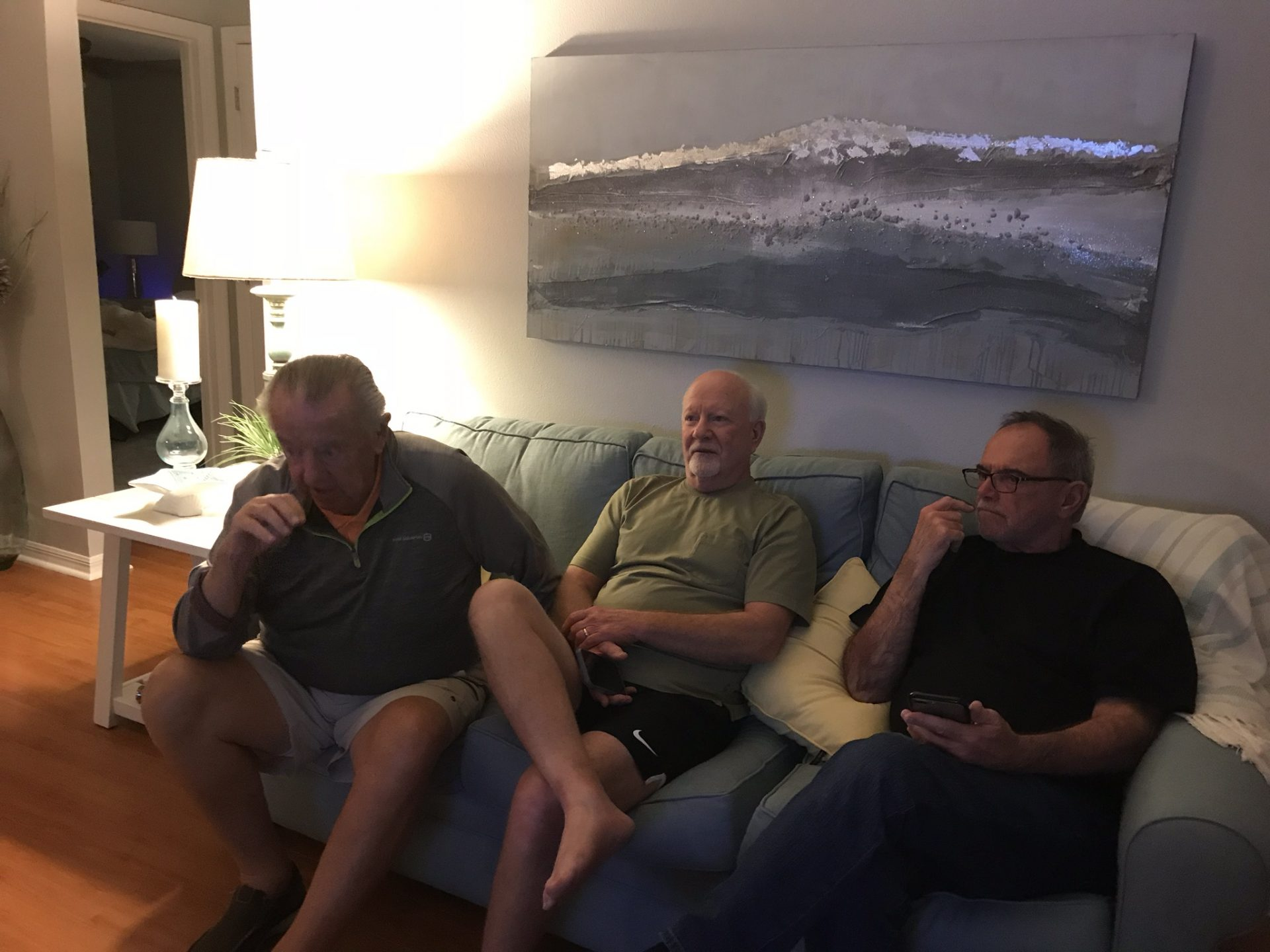 The three boys together in Florida. Those three! Laughter around when they were together. We girls just sat back and laughter along.  Our dear friend will be sooooo missed. Mike and Jessica mox
