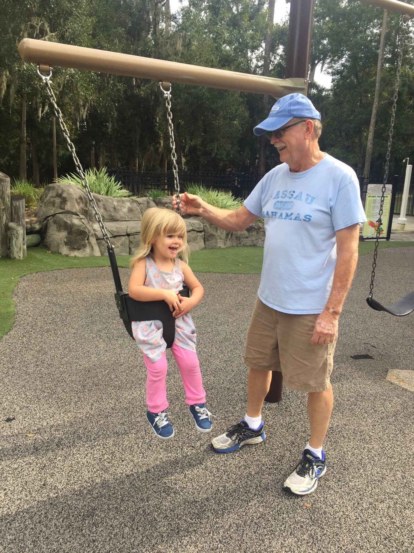 Papa T and Lilly at the park
