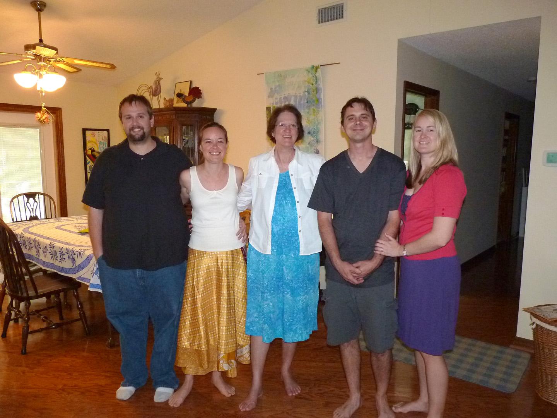 Easter 2015 (Left to right - Ken Donnelly, Katy Donnelly, Calandra Thurrott, Jovan Ragia, Jillian Ragia)