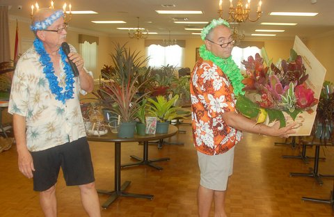FECBS Club Meeting Luau with close friend Rick Ryals