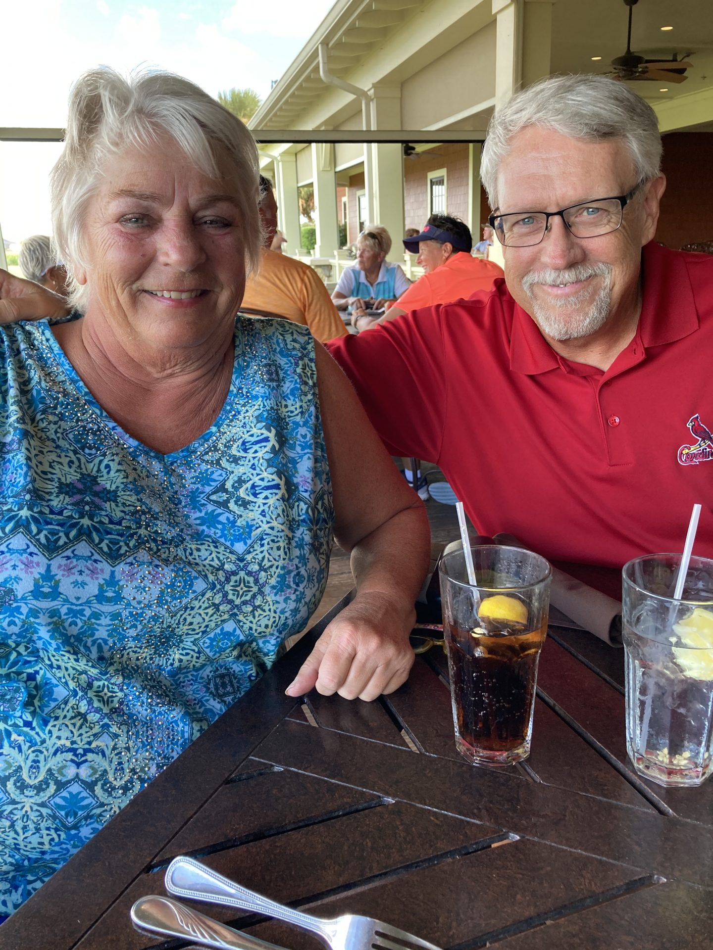 Artie and I had dinner with John and Suzy over the summer at Evans Prairie Country Club.