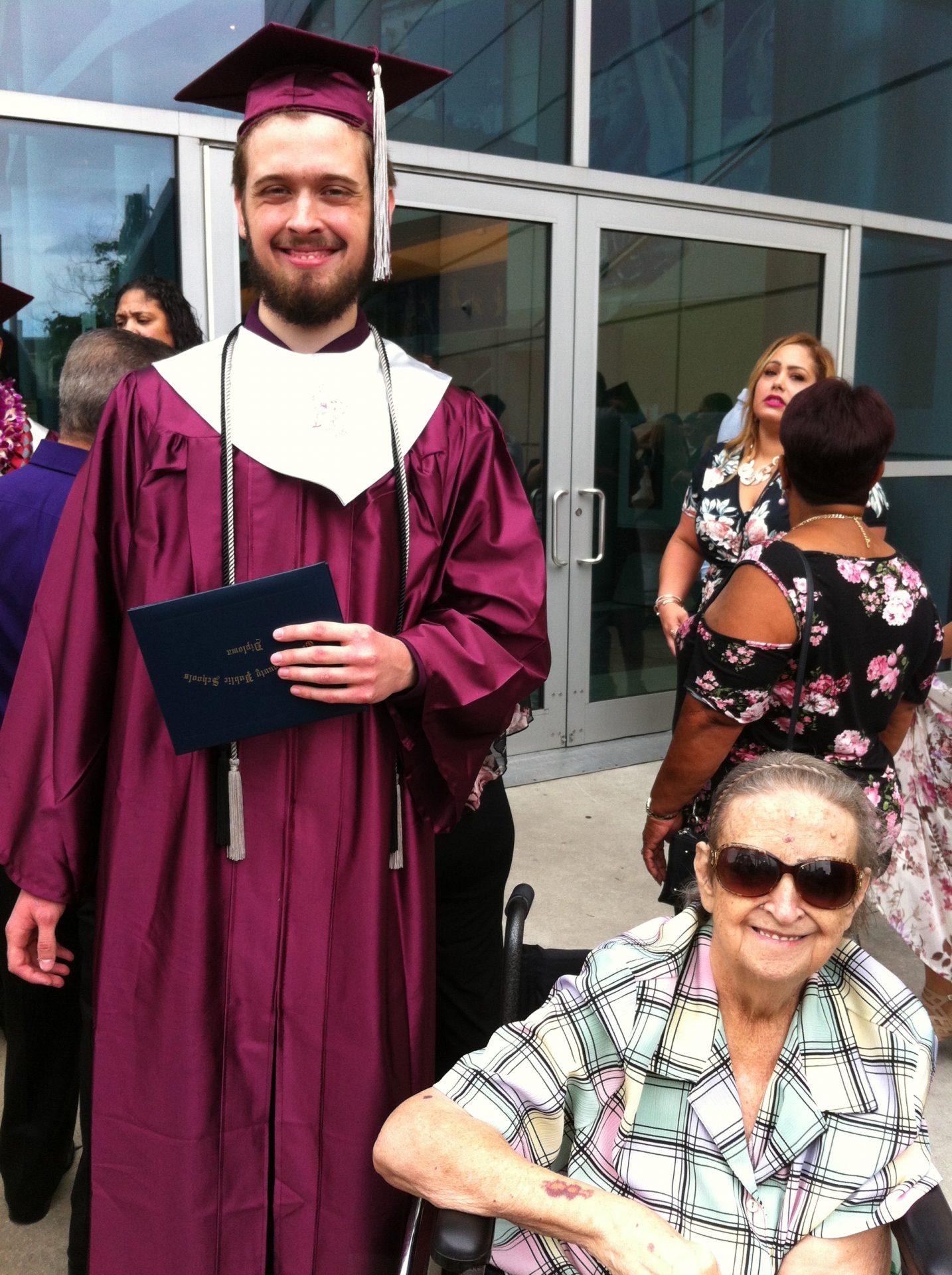 Graduation from high school