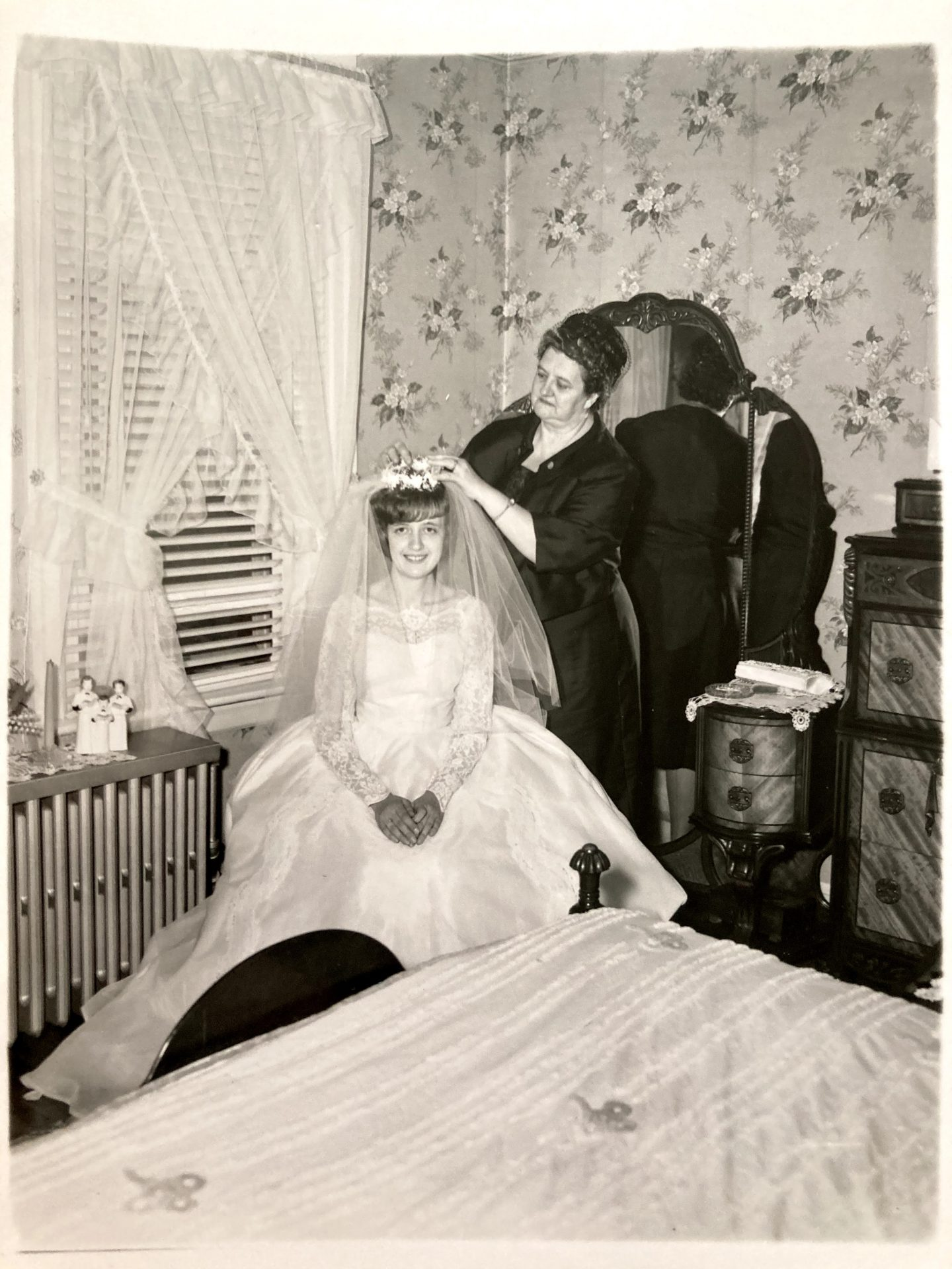 Charlotte and her mother, Helen Karolczak, on her wedding day.