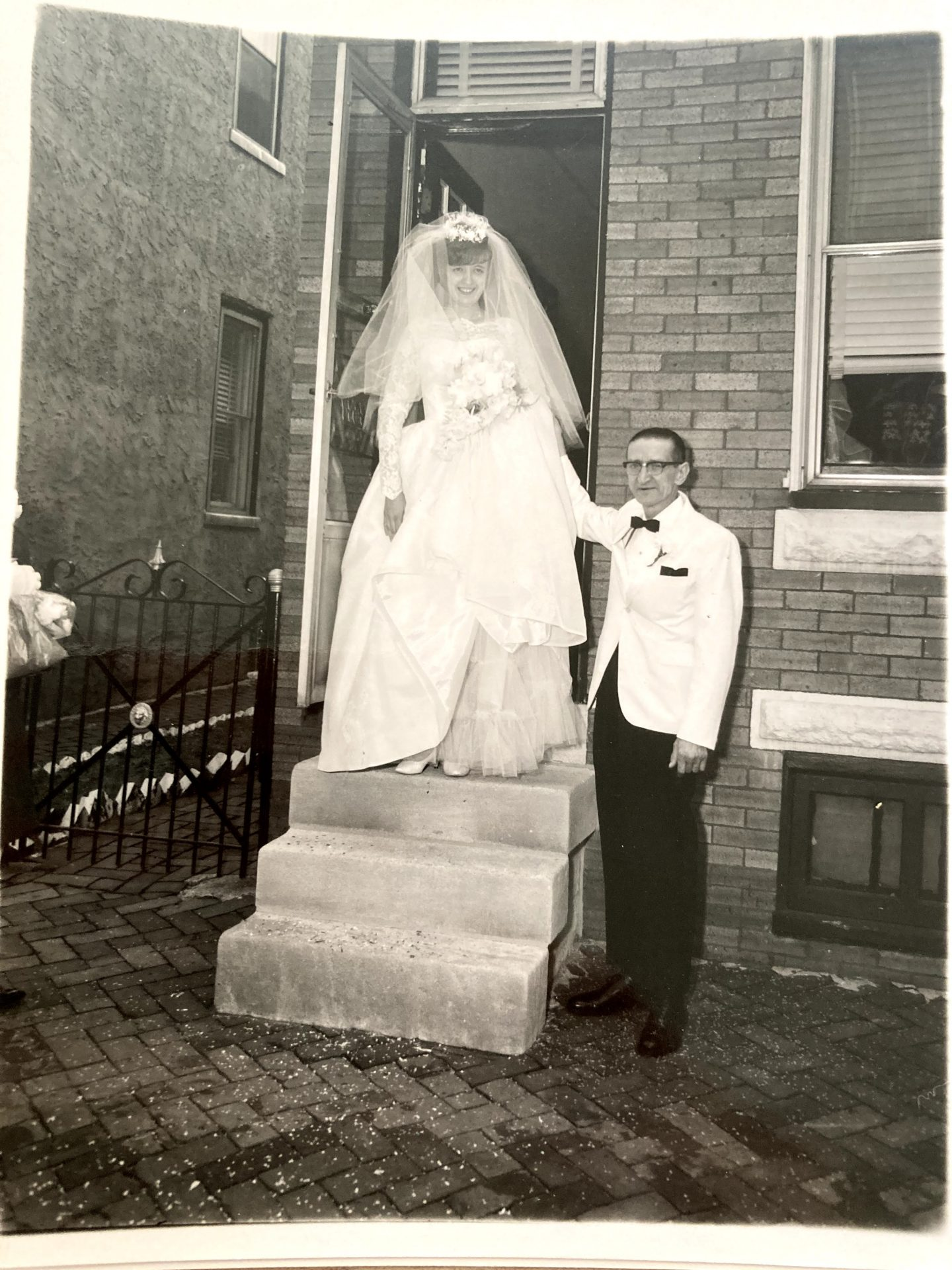 Charlotte and her father, John Karolczak, on her wedding day.