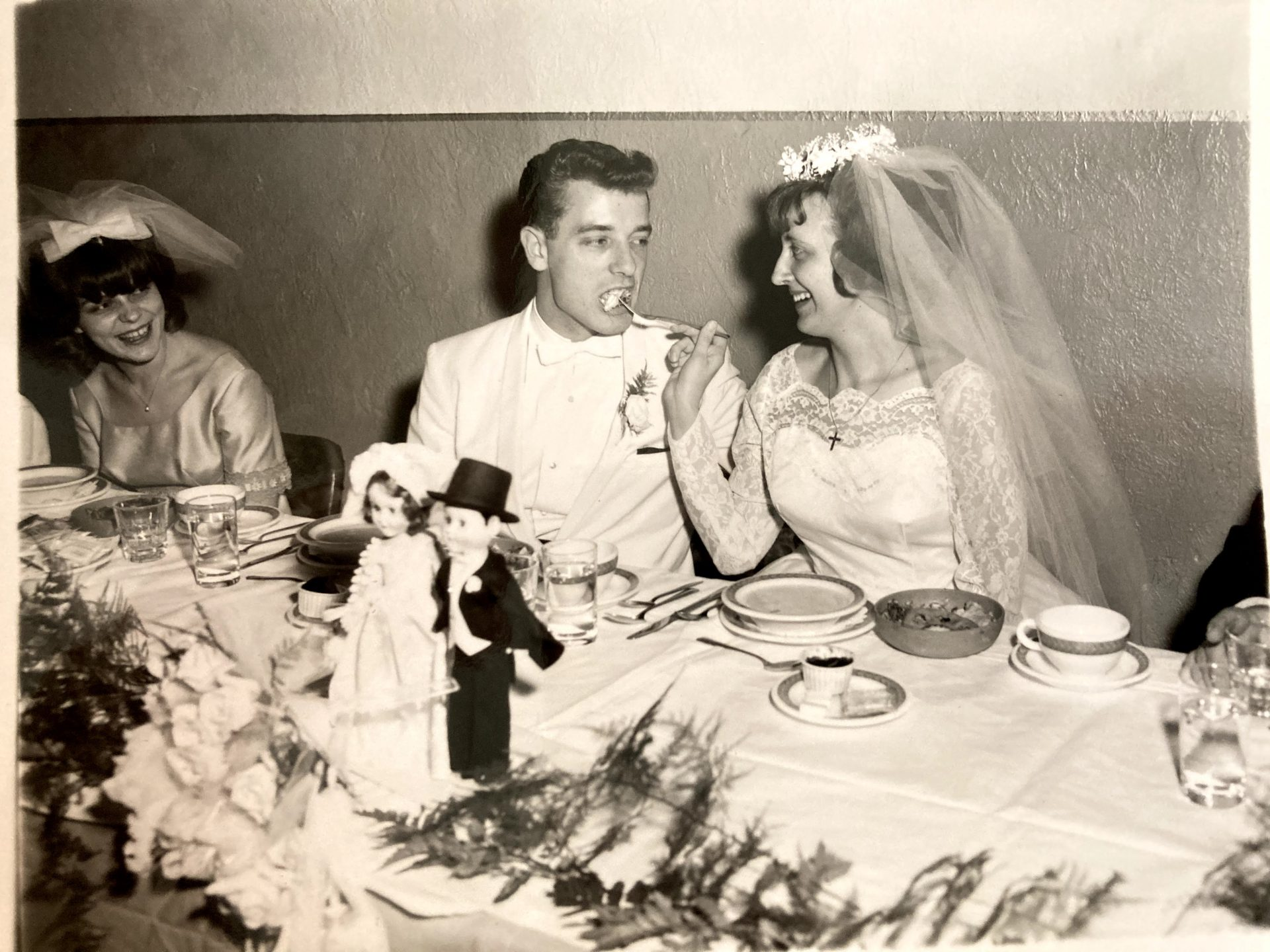 Newly married Charlotte and Dennis, the start of 54 beautiful years. Si.