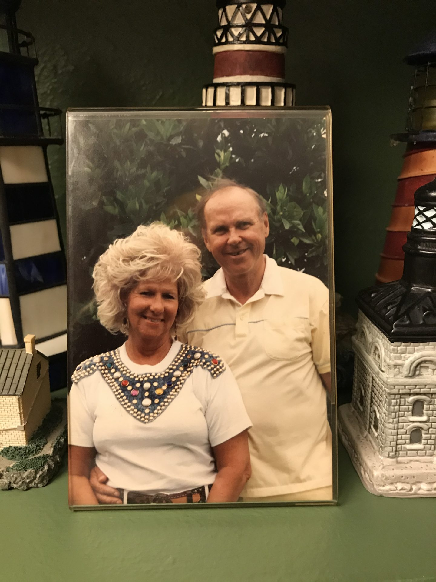 Mom and Dad in their  Arcadia Florida home in front of their fabulous citrus grove.