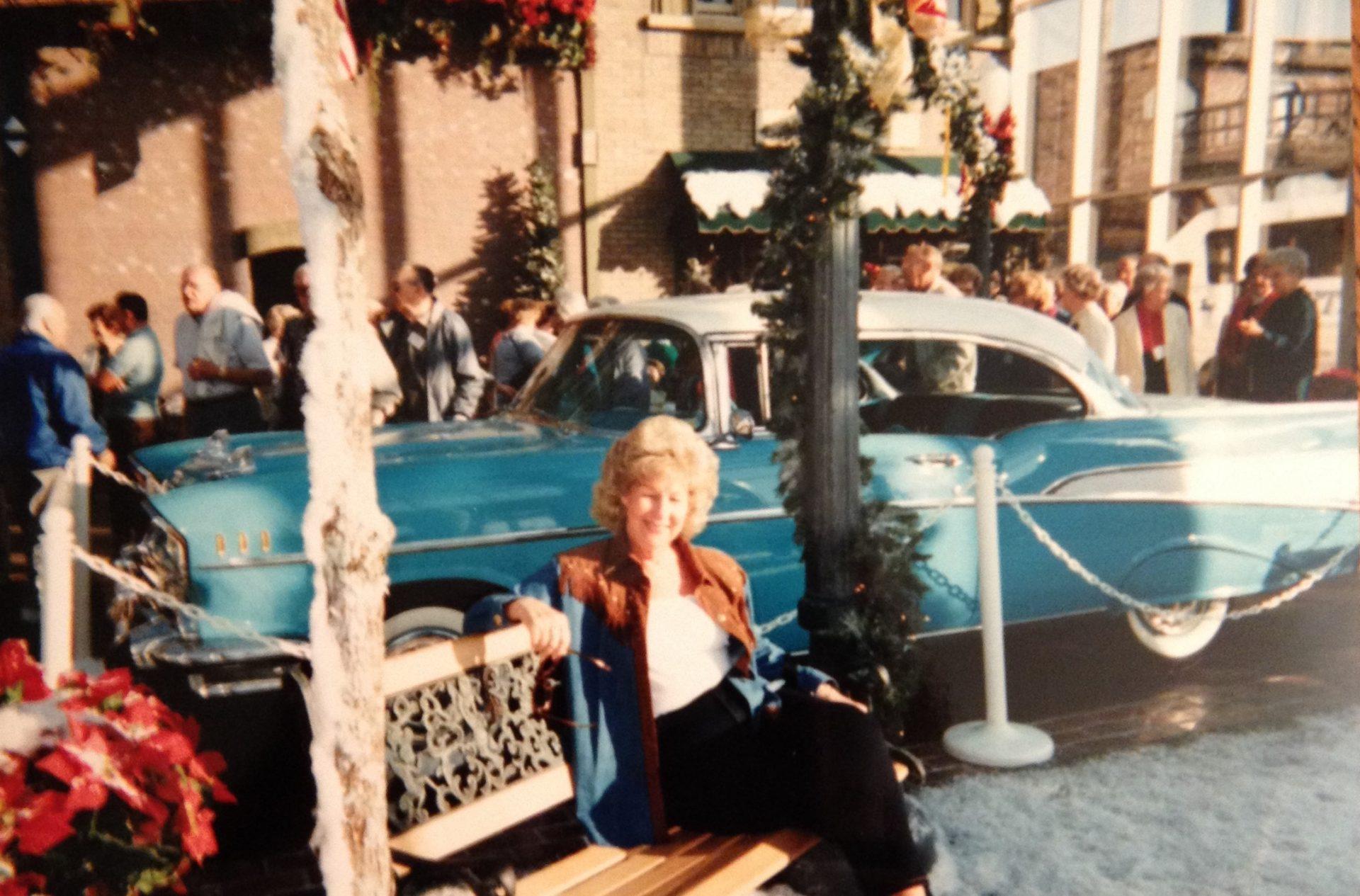 Mom during Christmas time