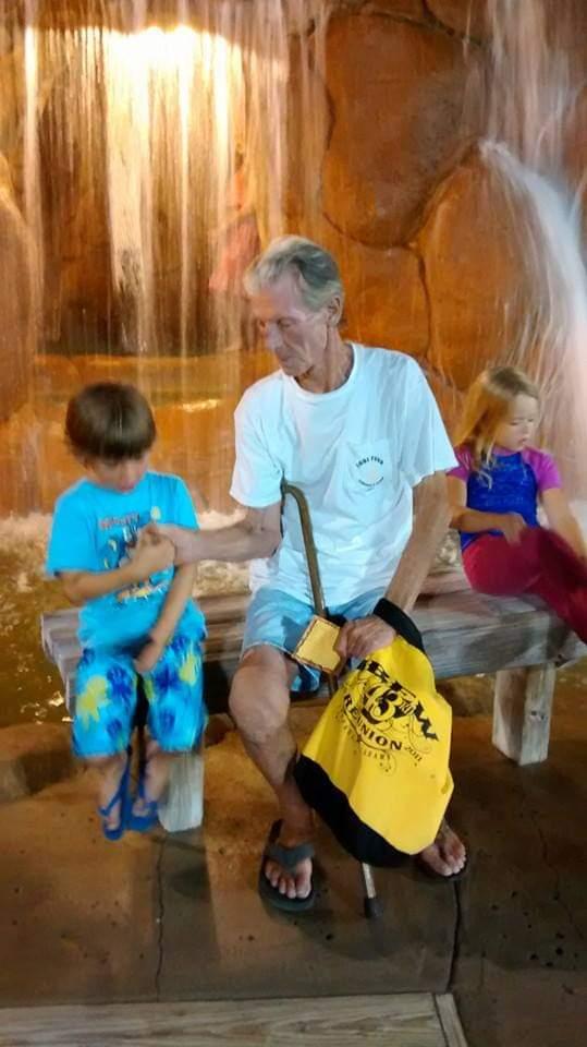 Thumb war with his grandson jacob