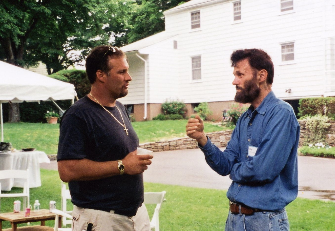 2001  Christopher and father, Robert