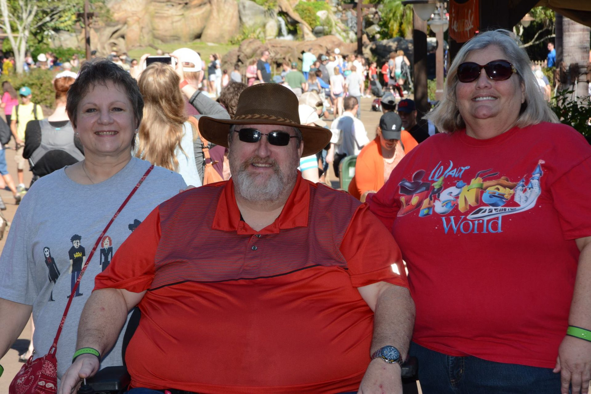 Renee Poudrier, Bob Jarvis, Jean Jarvis at Disney 2017