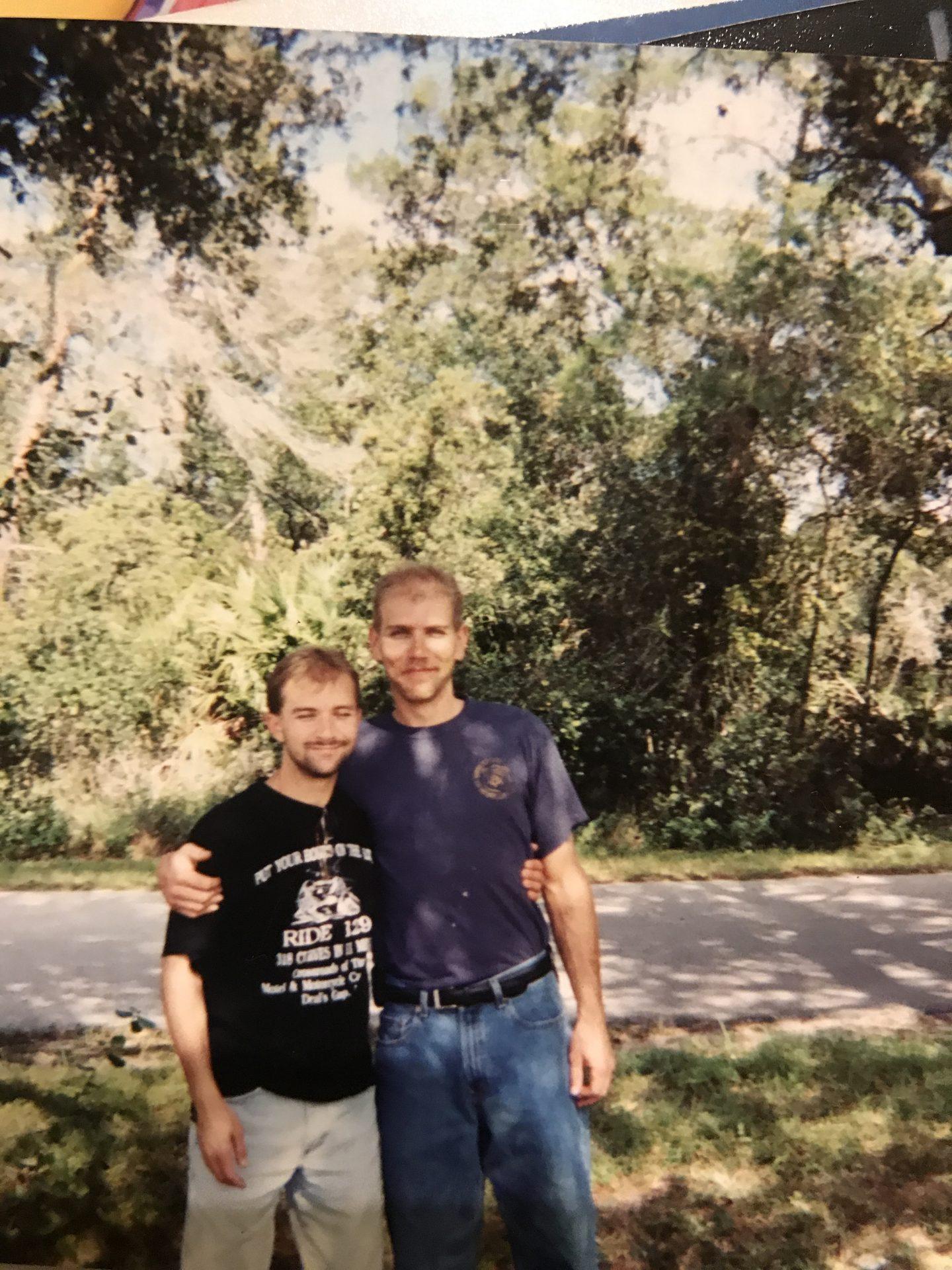 Randy and David, many years ago.