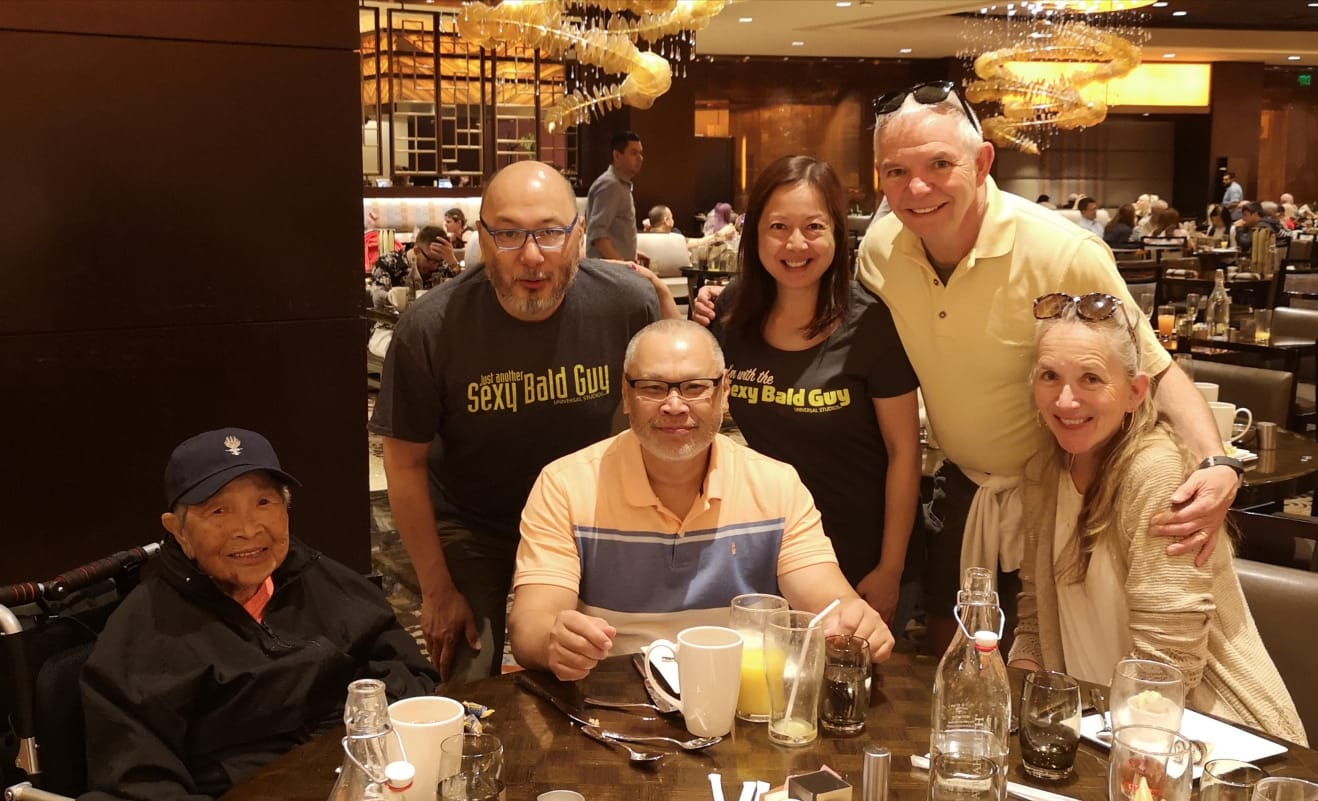 We met up in Vegas last year.  Good times!!   Glad we were able to spend time together with Rose on that trip.  We will miss her.