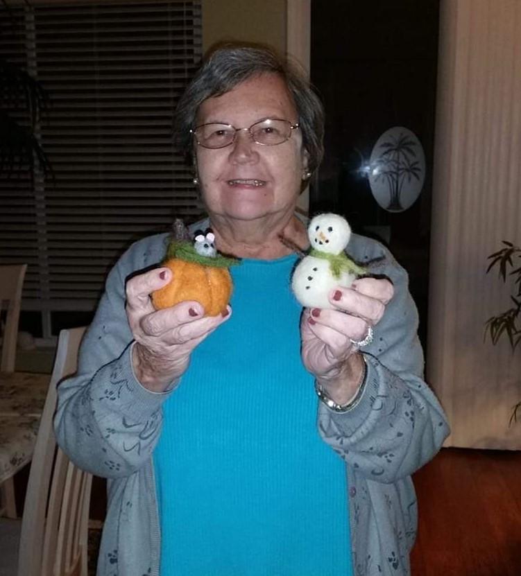Mom loved doing crafts.