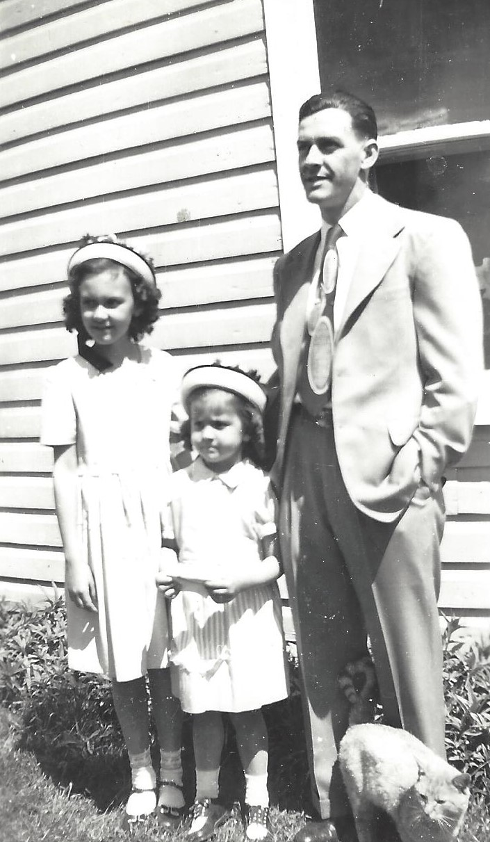 Joann, Linda and their Daddy