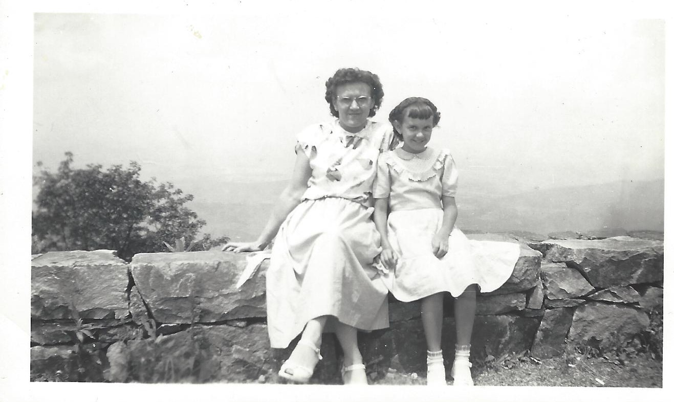 Joann and her mother 1949 in VA