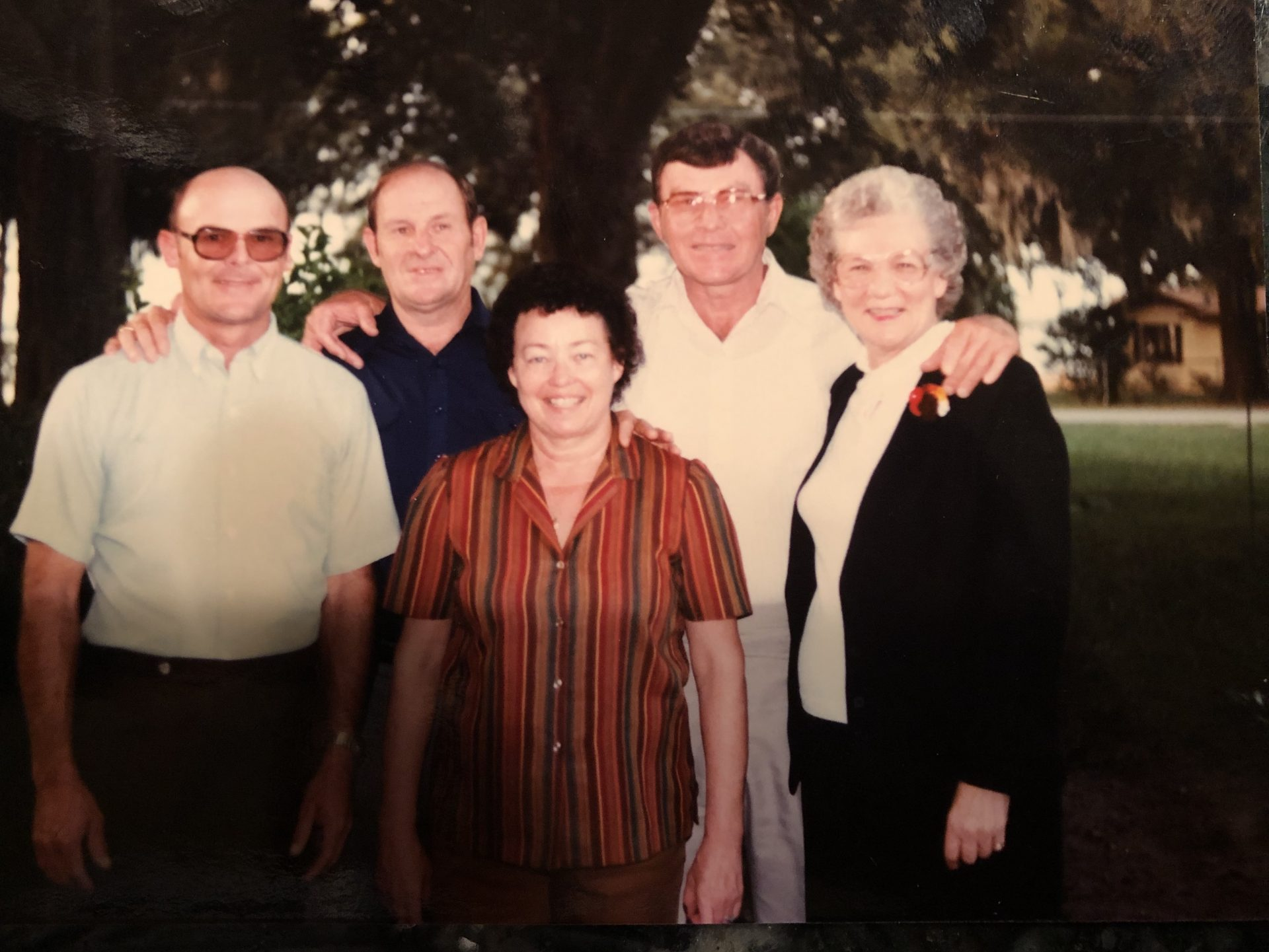 Gastfield Thanksgiving 1983.<br /> Penny with brothers Butch and Buzzy, sister Sarah and cousin Ruth.