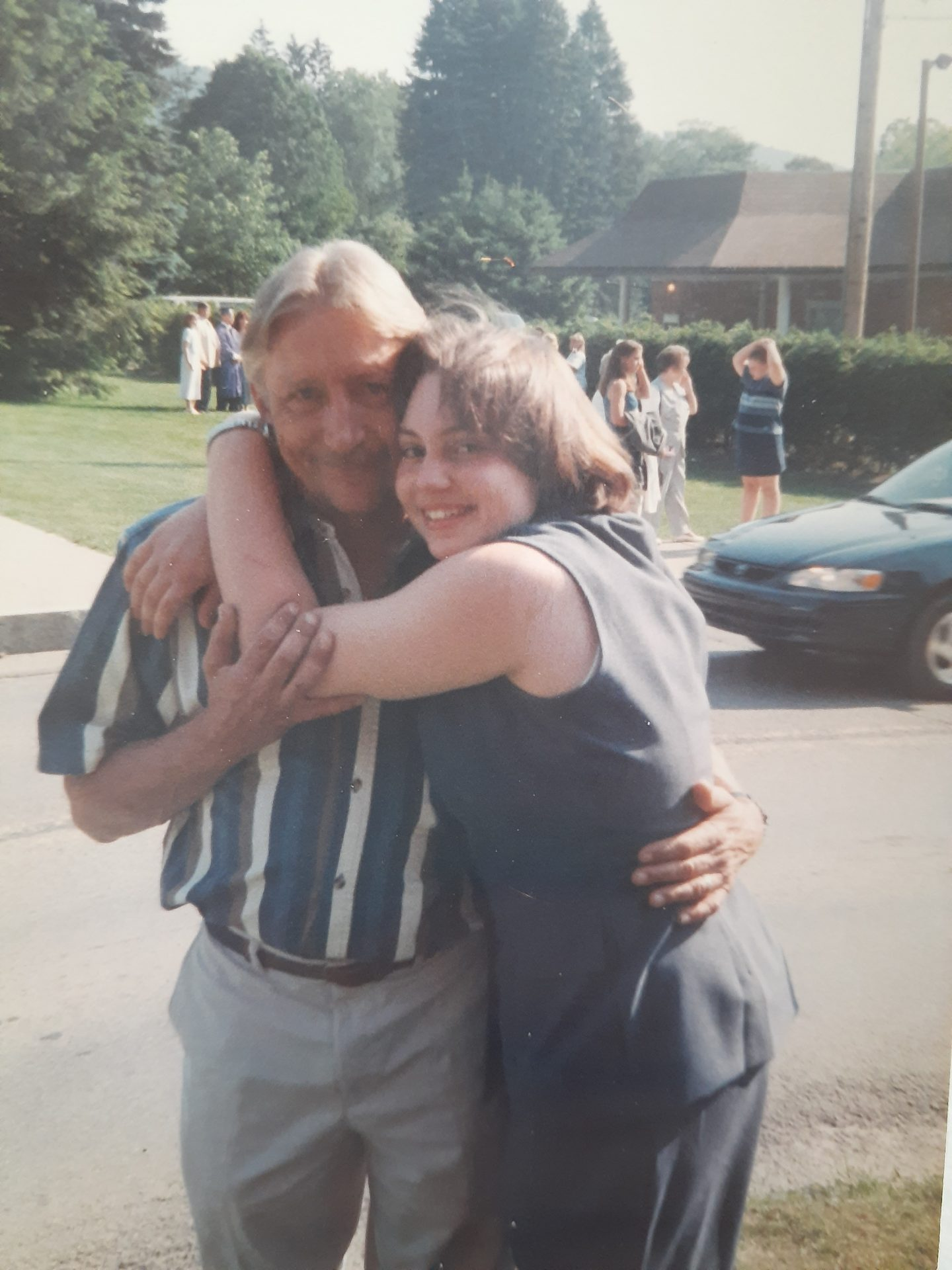 Dad and Jessica . <br />