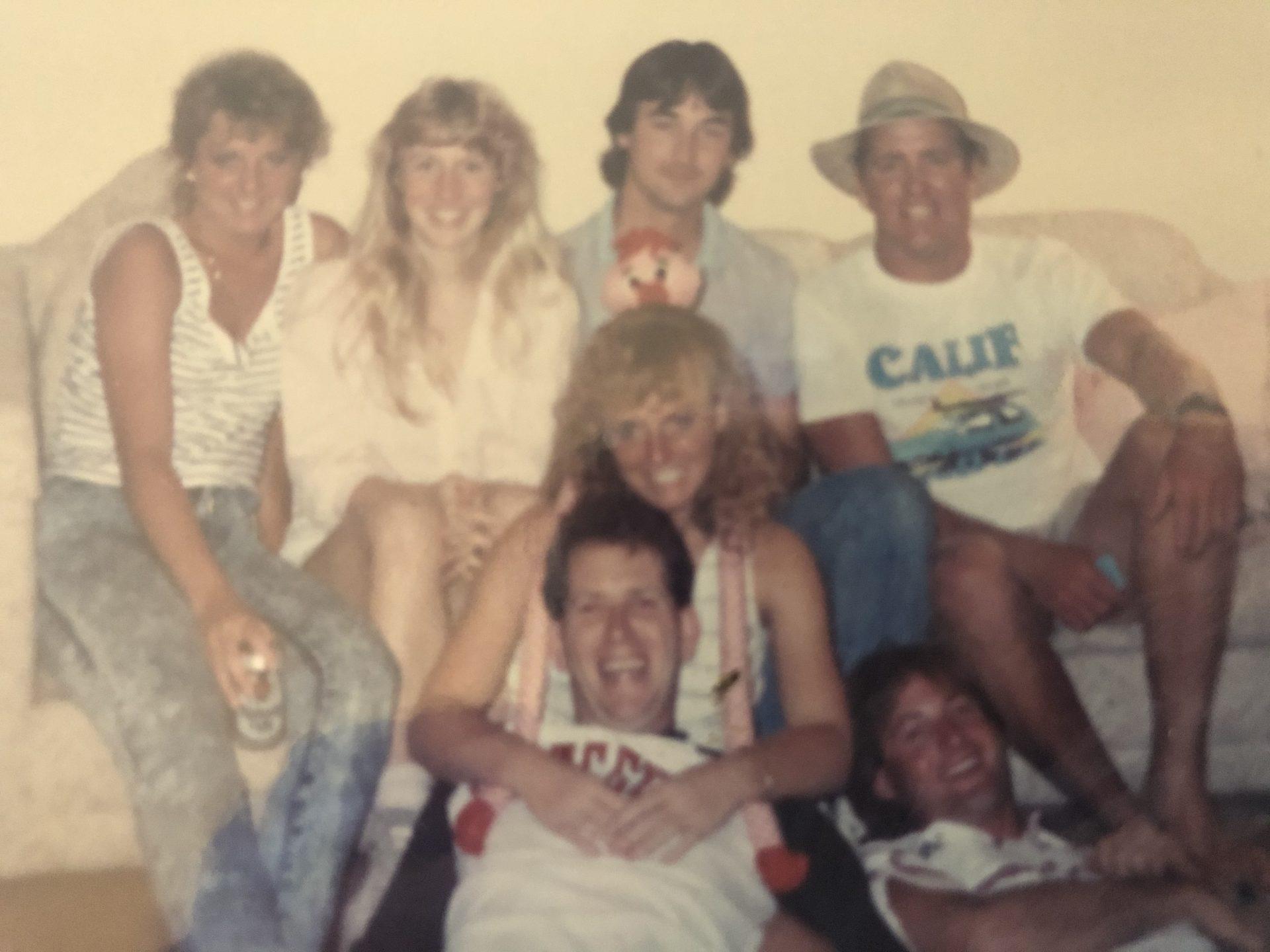 "The "" Loitering gang""    Winnebago trail<br /> Early 80's"