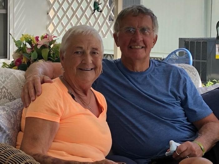 Great pic of mom and dad taken a couple weeks ago.