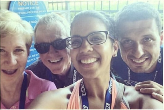"""Selfie at Leadership with Dennis and Heidi. Nemo and I were newly married and the advice we received this day was, """"if it's not going to matter in a few years from now, don't stress about it now. Learn which battles to just drop."""" Our marriage thanks you and Dennis for that advice. We love you guys dearly."""