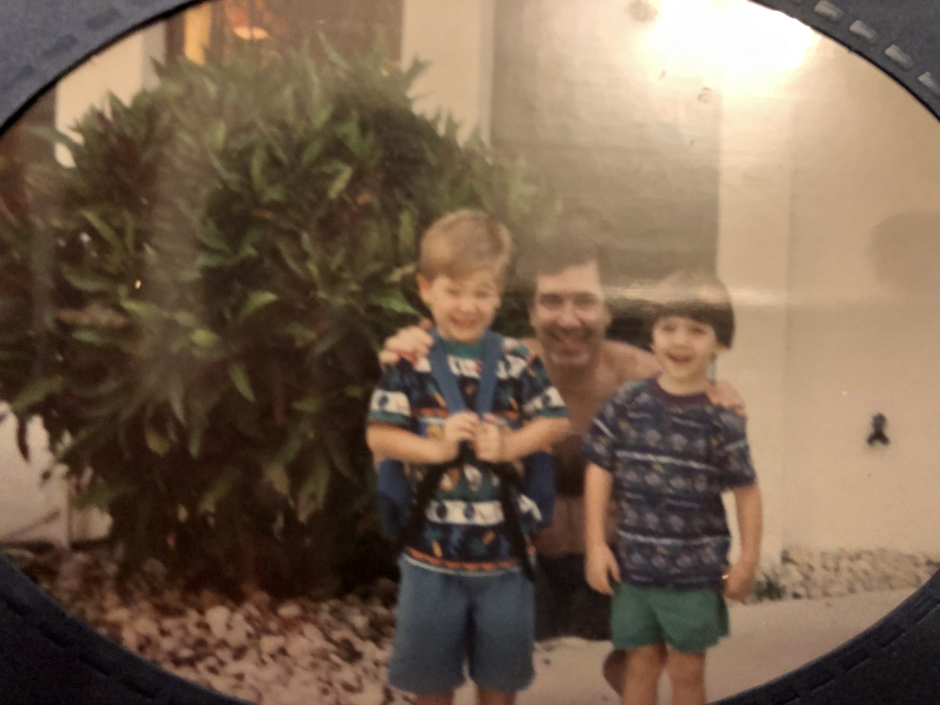 Cliff with his sons, mid 1990s