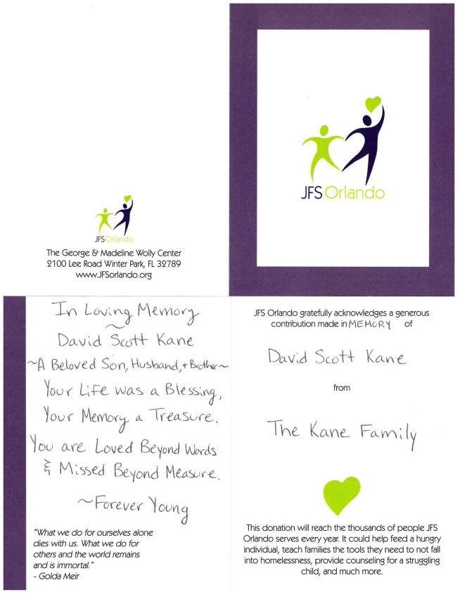 JFS Orlando Donation Memorial