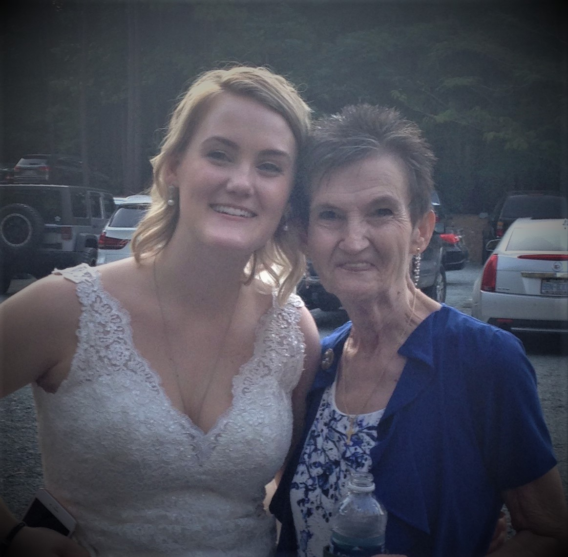 Proud Grandmother with the beautiful bride