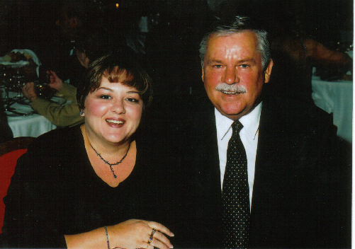 One of my favorite photos of us. We were on a magical Mediterranean cruise in 2000.
