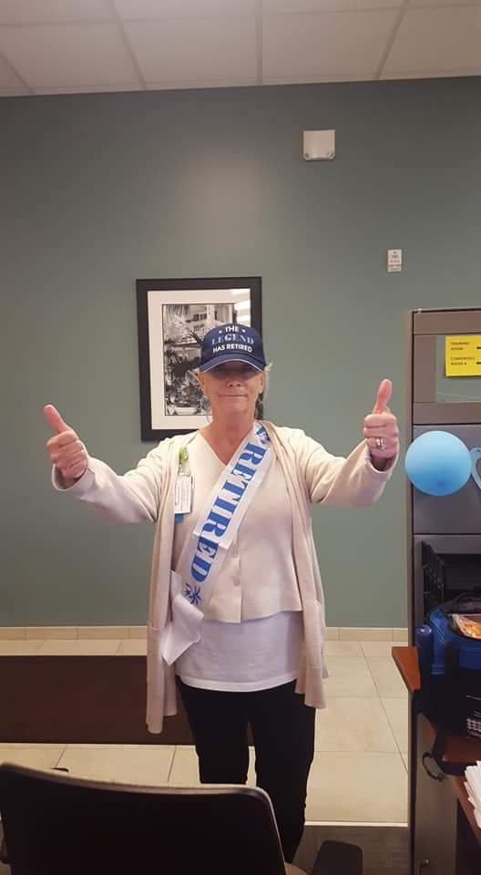 Alice's retirement day from Lee Health after more than 30 years of service