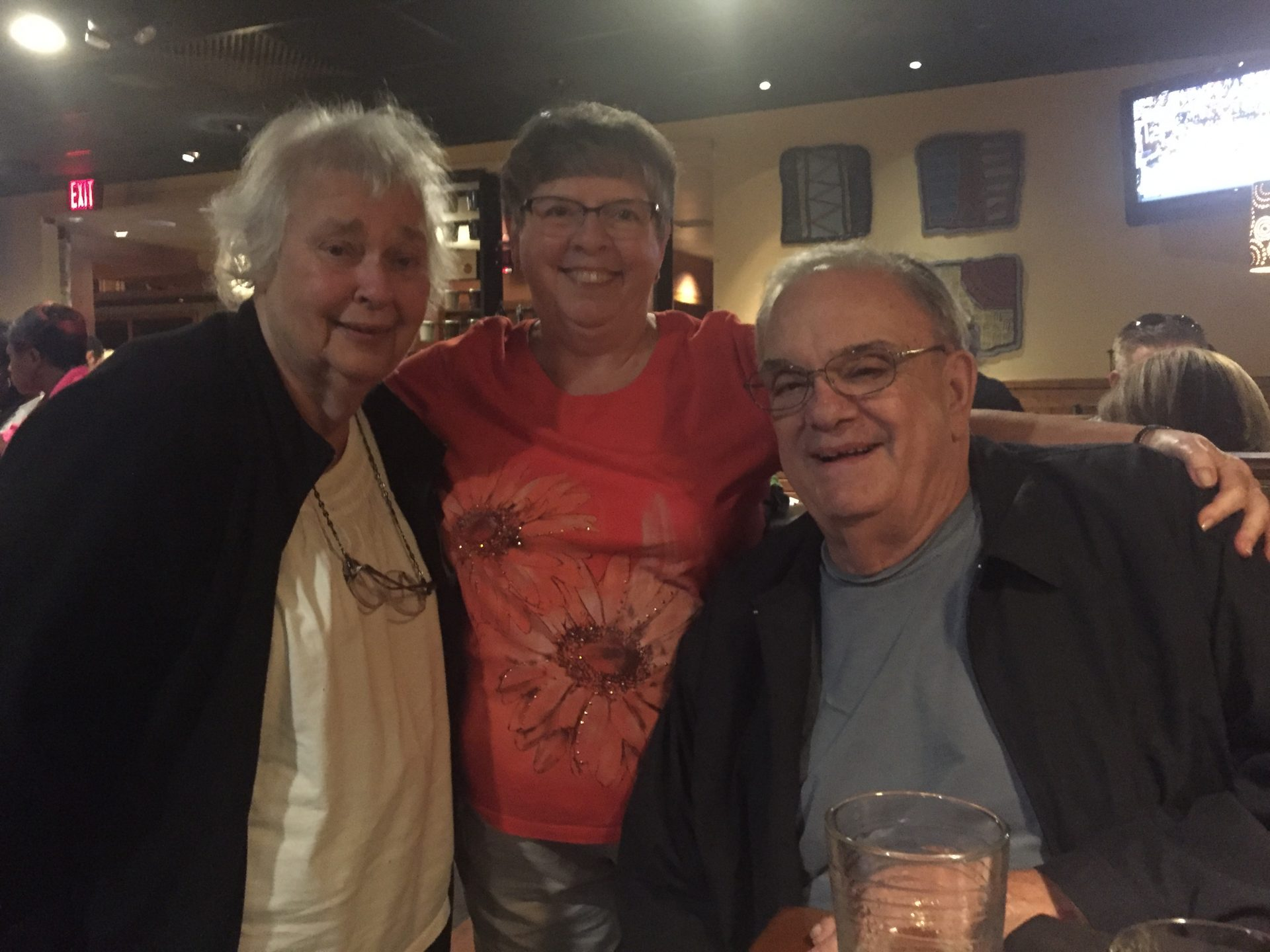 Dinner at Outback with Joan, John, and Camille Palombo on a visit to NC!