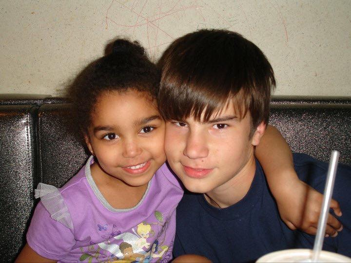 Remember them when they were so young   Tristen would and still will protect his little sister.