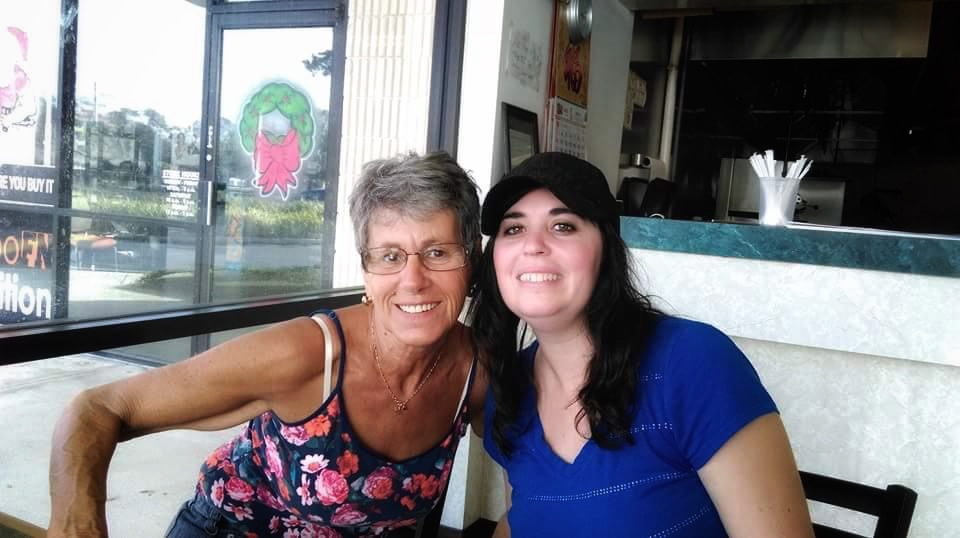 Visited Aunt Midge when she just moved to Daytona. This is us getting some Chinese food!