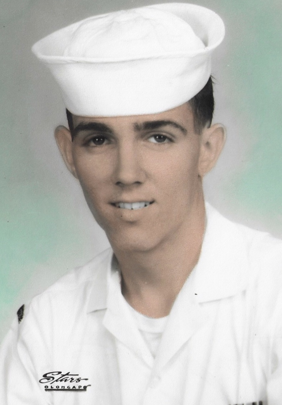 This is a picture of Dad when he enlisted in the Navy.