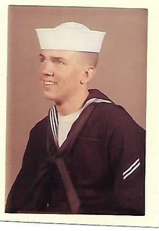 Boot camp graduation  picture from 1964. Parents had to sign so he could join the Navy.