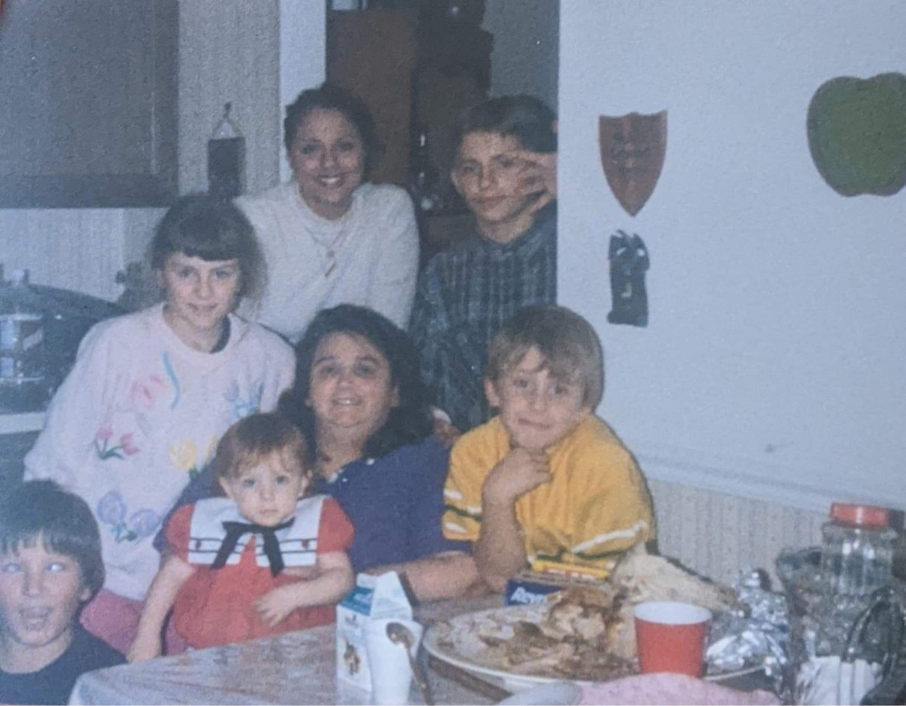 Maryann with her grandchildren.