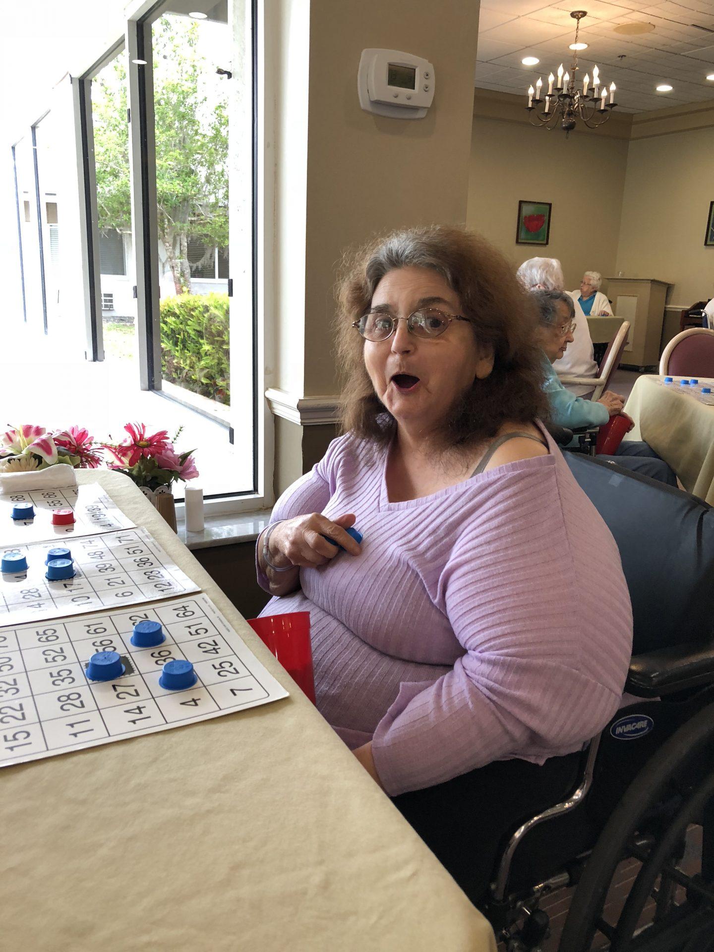 Mom sure loved her bingo.