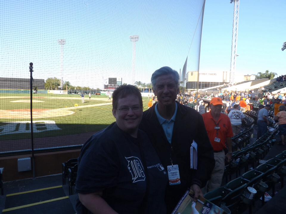 Becky and Tigers General Manager in Lakeland
