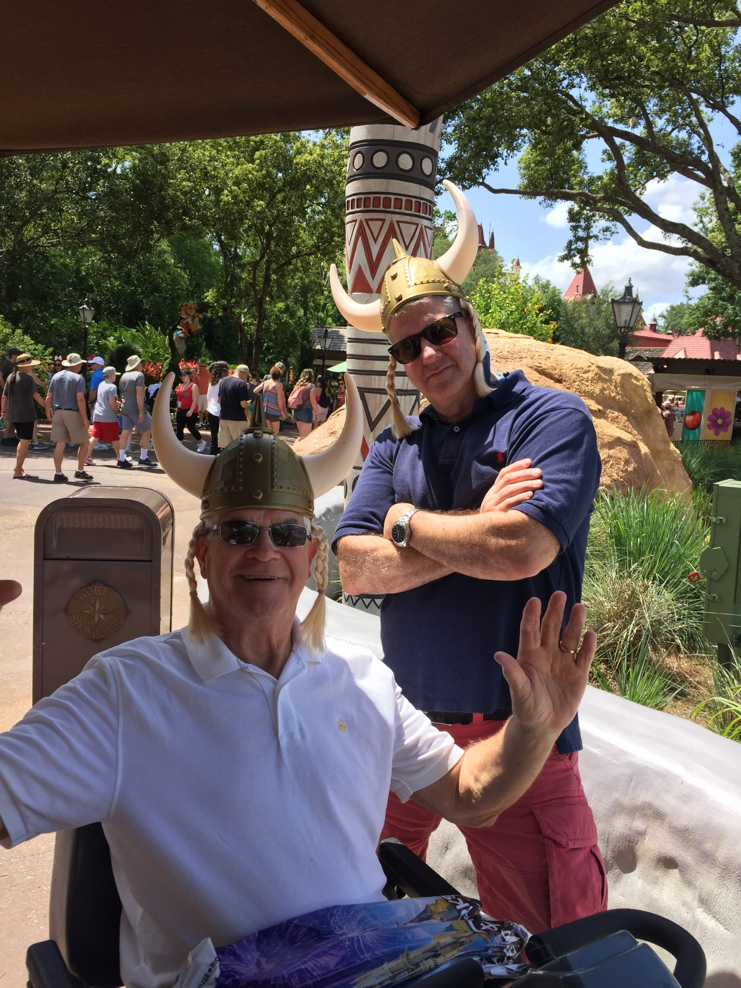 Just another normal day hanging out with Papa Rog at Epcot center - You were an amazing man, great father in law and honorary Viking for a day!