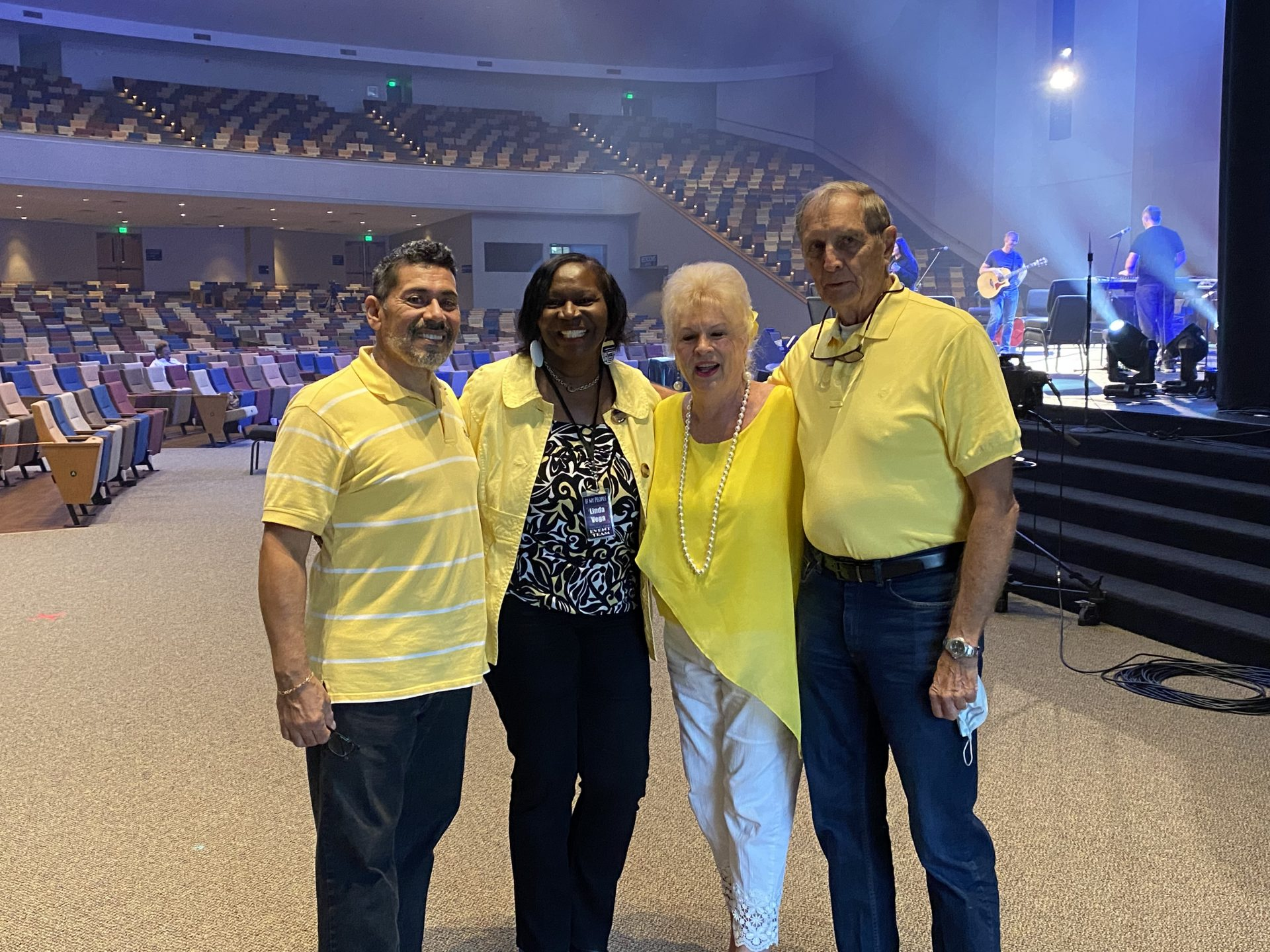 Ric, Punky, Raymond and Linda Vega attending If My People Prayer Convocation September 2020 Calvary Assembly Church