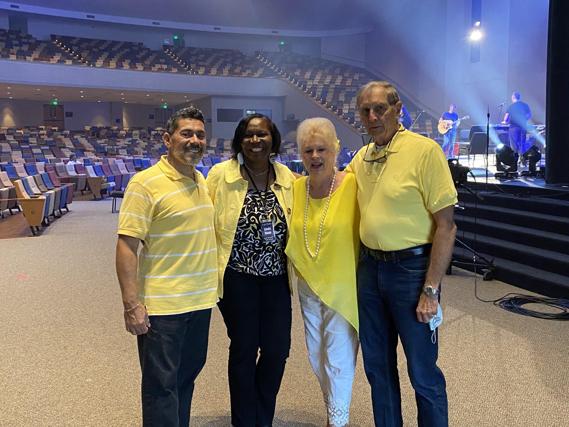 Ric, Punky, Raymond and Linda Vega attending If My People Prayer Convocation September 2020 Calvary Assembly Church