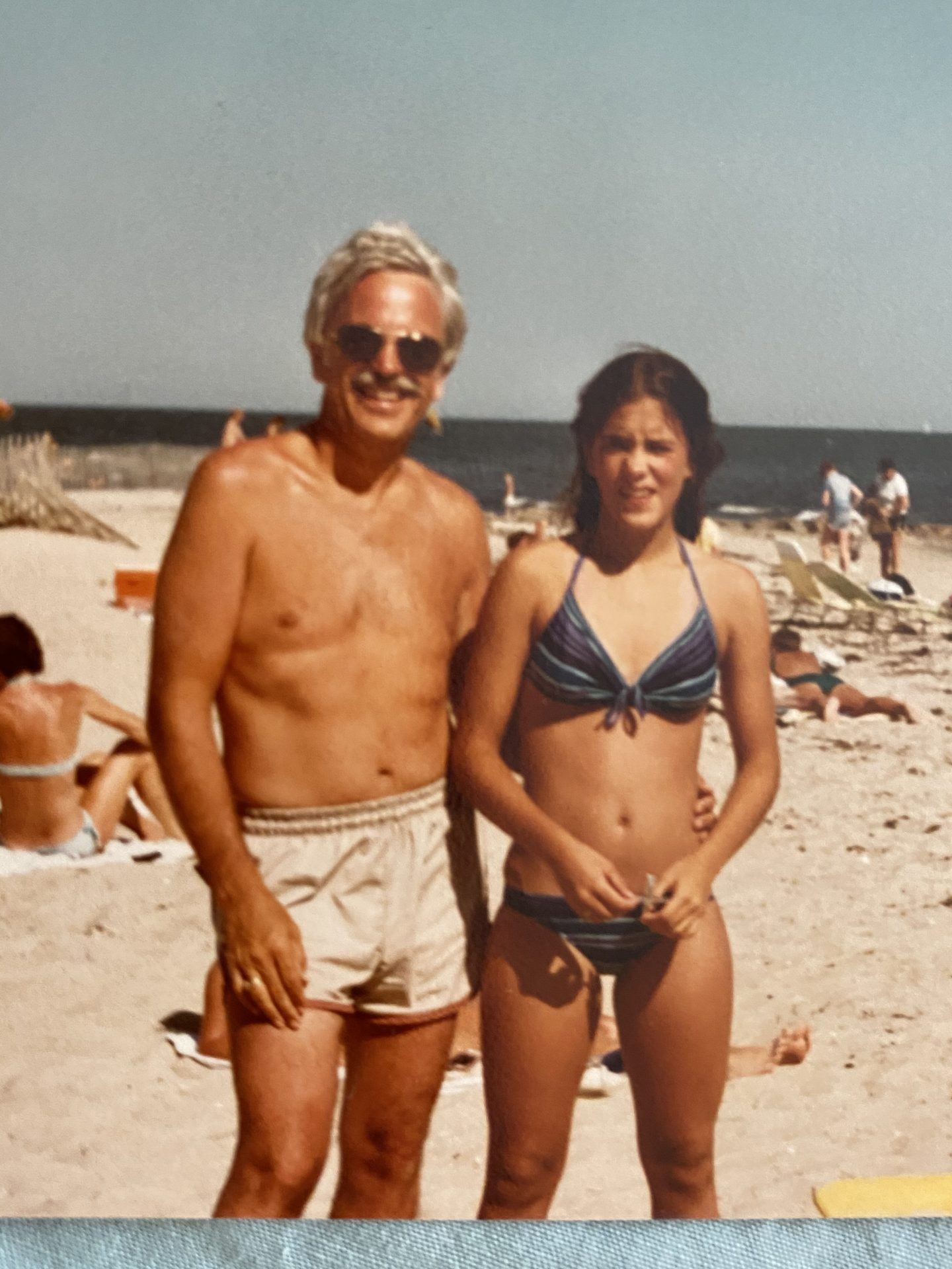 Dad and Antoinette at the beach. He always loved the beach.