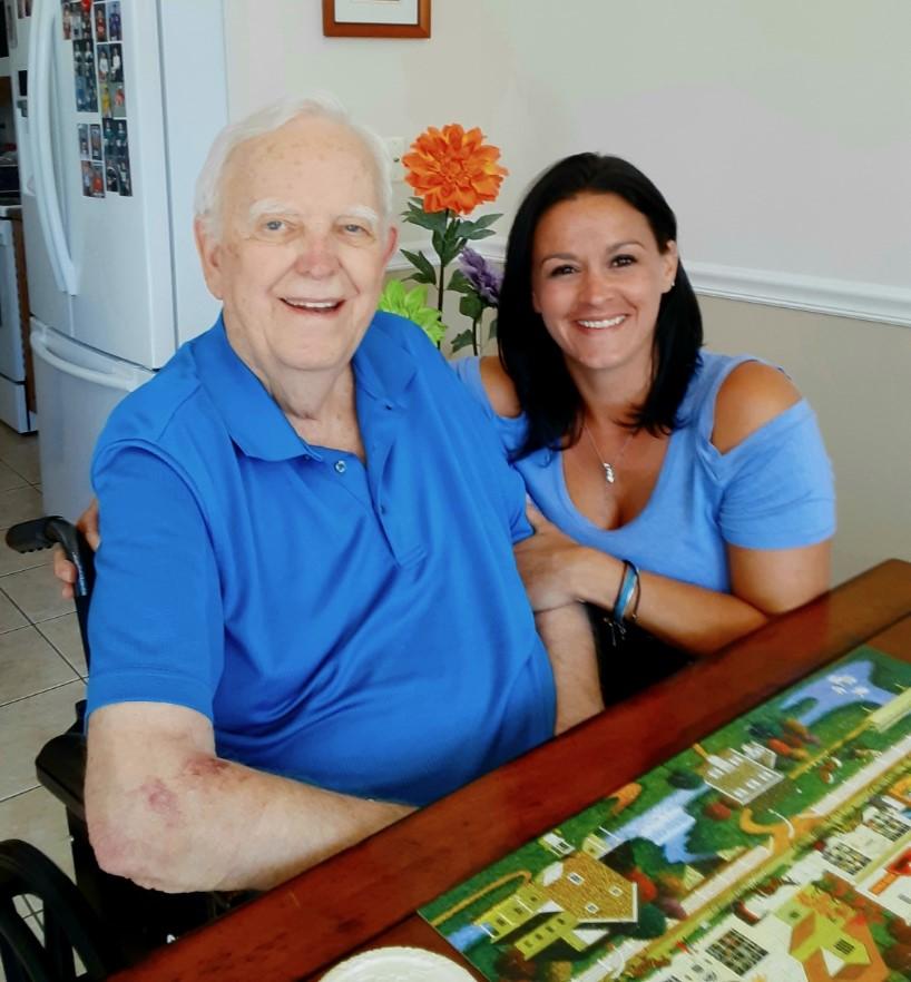 My handsome Grandpa conquering the puzzle ❤️